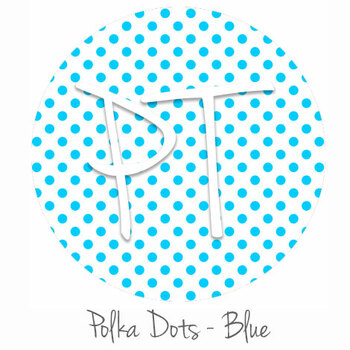 "12""x12"" Permanent Patterned Vinyl - Polka Dots Blue"