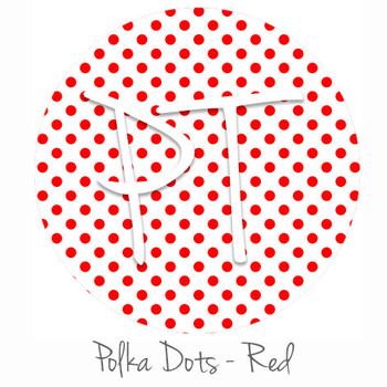 "12""x12"" Permanent Patterned Vinyl - Polka Dots Red"