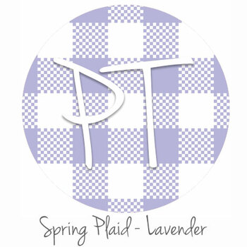 "12""x12"" Permanent Patterned Vinyl - Spring Plaid - Lavender"