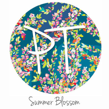 "12""x12"" Permanent Patterned Vinyl - Summer Blossom"