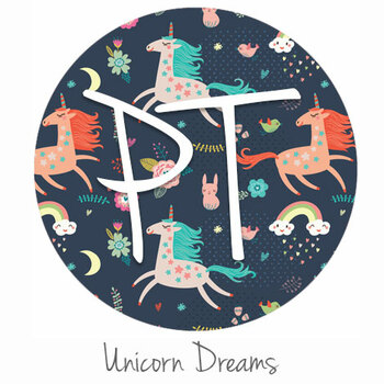 "12""x12"" Permanent Patterned Vinyl - Unicorn Dreams"