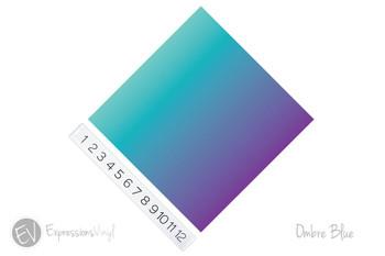 "2""x12"" Patterned Heat Transfer Vinyl - Ombre Blue"