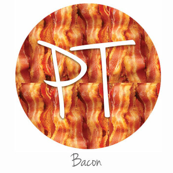 "12""x12"" Patterned Heat Transfer Vinyl - Bacon"