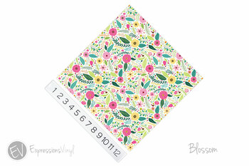 "12""x12"" Patterned Heat Transfer Vinyl - Blossom"