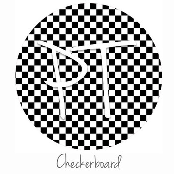 "12""x12"" Patterned Heat Transfer Vinyl - Checkerboard"
