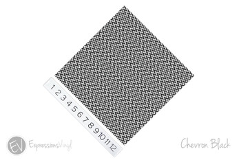 "12""x12"" Patterned Heat Transfer Vinyl - Chevron Black"