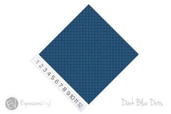 """12""""x12"""" Patterned Heat Transfer Vinyl - Dots - Dark Blue"""