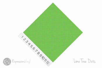 "12""x12"" Patterned Heat Transfer Vinyl - Dots - Lime Tree"