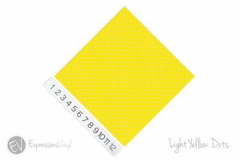 "12""x12"" Patterned Heat Transfer Vinyl - Dots - Light Yellow"