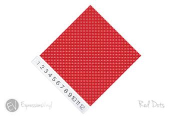"12""x12"" Patterned Heat Transfer Vinyl - Dots - Red"