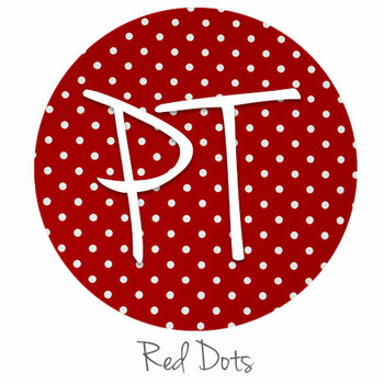 "12""x12"" Patterned Heat Transfer Vinyl - Dots - Red"