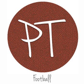 """12""""x12"""" Patterned Heat Transfer Vinyl - Football"""