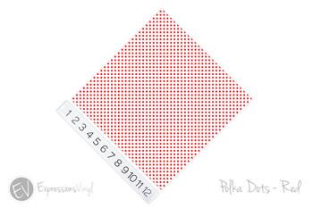"12""x12"" Patterned Heat Transfer Vinyl - Polka Dots Red"