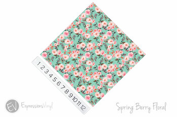 "12""x12"" Patterned Heat Transfer Vinyl - Spring Berry Floral"