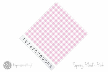 "12""x12"" Patterned Heat Transfer Vinyl - Spring Plaid - Pink"