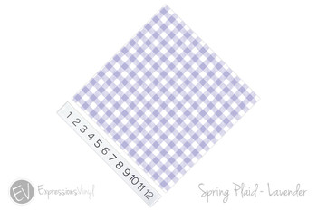 "12""x12"" Patterned Heat Transfer Vinyl - Spring Plaid - Lavender"