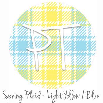 "12""x12"" Patterned Heat Transfer Vinyl - Spring Plaid - Light Yellow/Blue"
