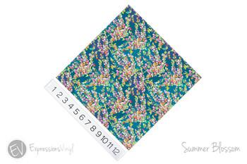 """12""""x12"""" Patterned Heat Transfer Vinyl - Summer Blossom"""