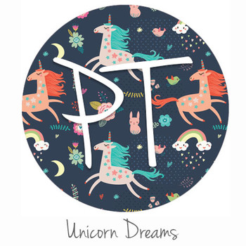 "12""x12"" Patterned Heat Transfer Vinyl - Unicorn Dreams"