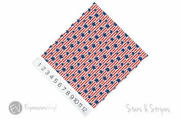 "12""x12"" Patterned Heat Transfer Vinyl - Stars & Stripes"