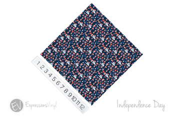 "12""x12"" Permanent Patterned Vinyl - Independence Day"