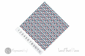 "12""x12"" Permanent Patterned Vinyl - Land That I Love"