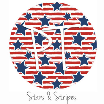 "12""x12"" Permanent Patterned Vinyl - Stars & Stripes"