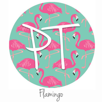 "12""x12"" Patterned Heat Transfer Vinyl - Flamingo"
