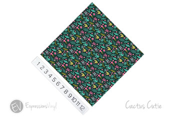 "12""x12"" Permanent Patterned Vinyl - Cactus Cutie"