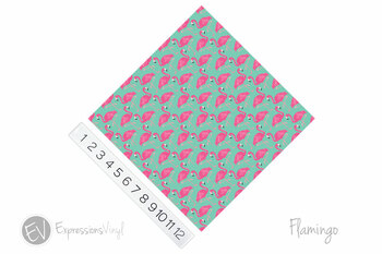 "12""x12"" Permanent Patterned Vinyl - Flamingo"