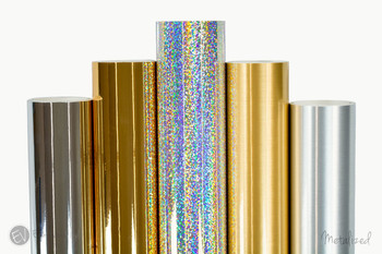 "Metalized Vinyl 12""x5ft. Rolls"