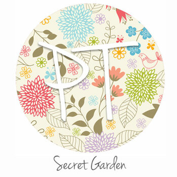 "12""x12"" Permanent Patterned Vinyl - Secret Garden"
