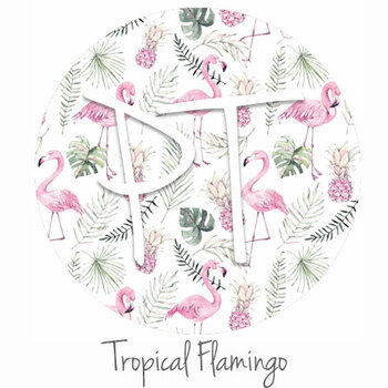 "12""x12"" Patterned Heat Transfer Vinyl -Tropical Flamingo"