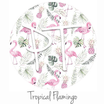 "12""x12"" Permanent Patterned Vinyl - Tropical Flamingo"