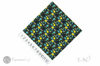 "12""x12"" Permanent Patterned Vinyl - E=MC2"
