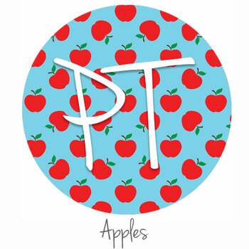 "12""x12"" Permanent Patterned Vinyl - Apples"