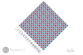 "12""x12"" Patterned Heat Transfer Vinyl - Apples"