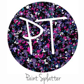 Patterned Heat Transfer Vinyl - Paint Splatter