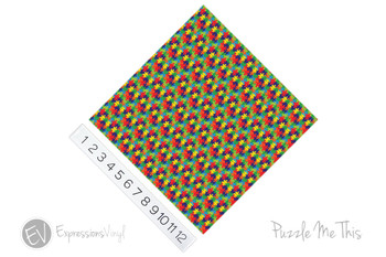 "12""x12"" Patterned Heat Transfer Vinyl - Puzzle Me This"
