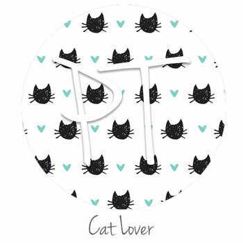 "12""x12"" Patterned Heat Transfer Vinyl - Cat Lover"