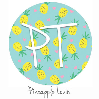 "12""x12"" Permanent Patterned Vinyl - Pineapple Lovin'"