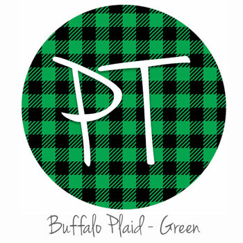 "12""x12"" Permanent Patterned Vinyl - Buffalo Plaid - Green"