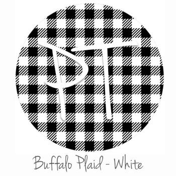 "12""x12"" Permanent Patterned Vinyl - Buffalo Plaid - White"