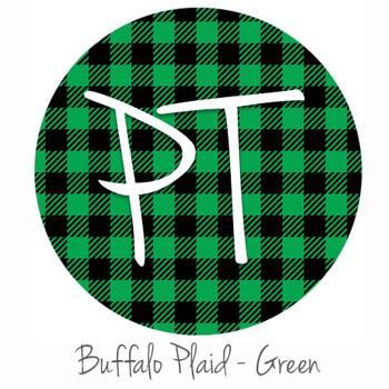 "12""x12"" Patterned Heat Transfer Vinyl - Buffalo Plaid - Green"