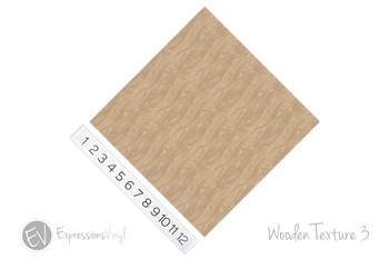 "12""x12"" Patterned Heat Transfer Vinyl - Wooden Texture 3"