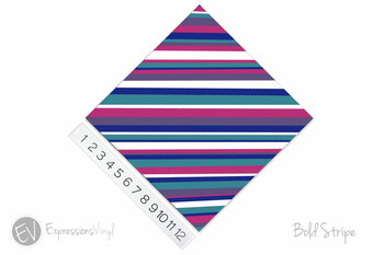 Patterned Heat Transfer Vinyl - Bold Stripe