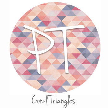 "12""x12"" Permanent Patterned Vinyl - Coral Triangles"