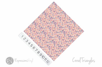 "12""x12"" Patterned Heat Transfer Vinyl - Coral Triangles"