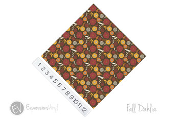 "12""x12"" Permanent Patterned Vinyl - Fall Dahlia"