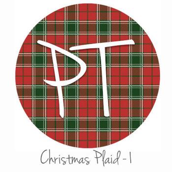 "12""x12"" Patterned Heat Transfer Vinyl - Christmas Plaid #1"